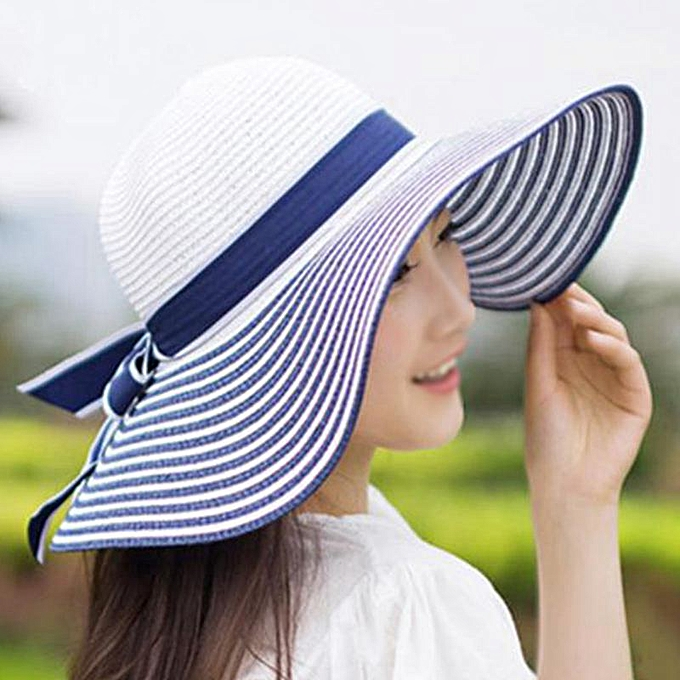 90f429bec Summer Straw Hat Women Big Wide Brim Beach Hat Vacation Sun Hat for Women  Foldable Sun Block UV Protection Hat(CY5077L)