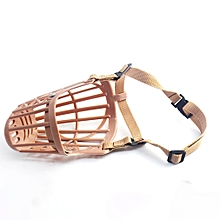 Strong Dog Muzzle Basket Anti-Biting Mouth Cover Dog Adjustable Straps Mask light pink  2