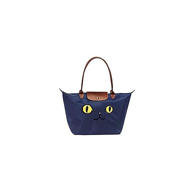 b8aa2f2c2a6 Fashion Longchamp Le Pliage « Miaou » Large Tote Bag 1899576 (Navy ...