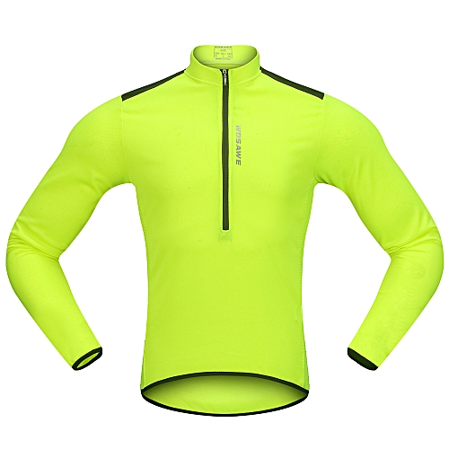Generic Wosawe Men s Cycling Jersey Spring Autumn Half-zip MTB Bike Riding  Long Sleeve Shirt Clothing 4185bed46