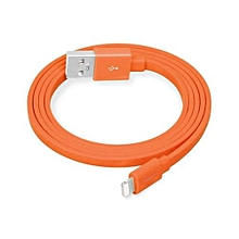 CC Lightning 8 Pin To USB Flat Charging Data Cable With TPE JacketFor IPhone 5S/5 (Orange)