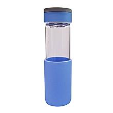 Glass Water Bottle - 550ml - Blue