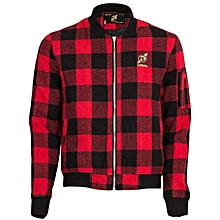 Black & Red Checked Jacket