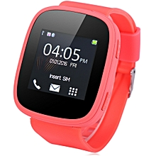 KENXINDA S7 1.54 inch Smartwatch Phone MTK6261 Bluetooth Sound Recorder Heart Rate Measurement Function WATERMELON RED US PLUG