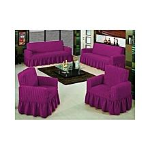Sofa Seat Covers – 3+2+1+1  - Purple
