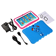 7 Inch Quad Core Children Learning Tablet PC 1GB RAM+8GB ROM for Android 4.4 blue