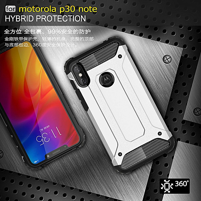 low priced 6ad4e d2d9a Hard Armor Defender Case for MOTO One Power / P30 Note