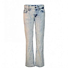 Blue Bleached Boys Denim Pant