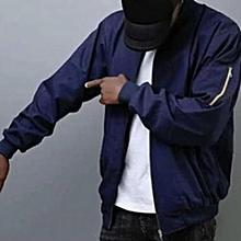 Blue Casual Bomber Jacket [khaki material,  unisex]