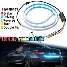 3Pcs LED Strip Trunk Tail Brake Turn Signal Light Flow Type Ice Blue Red Yellow White Car Lights Decorative Lamp Colorful