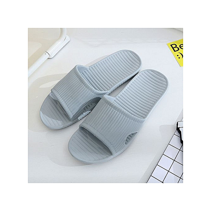 aef9a8123 Jiahsyc Store Men Stripe Flat Bath Slippers Summer Sandals Indoor   Outdoor  Slippers -Light Blue