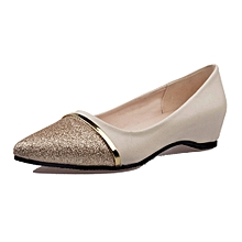 47186507be2 huskspo Ladies Women  039 s Shoes Fashion Pointed Toe Casual Shoes Low Heel  Flat