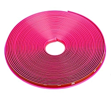 8 M Car Style Tire Rim Protector Tire Hub Tape Bumper For BMW For Toyota HOT-Hot Pink