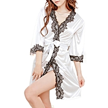 singedanNew Women Fashion Lace Bathrobe Pure Role-playing Sexy Lingerie Wild Temptation -WT