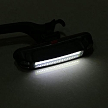 USB Rechargeable COB LED Bicycle Bike Front Rear Tail Light Warning Lamp