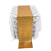 275X30CM Gold Glitter Sequin Table Runner Cloth  Sparkly Wedding Party Decor