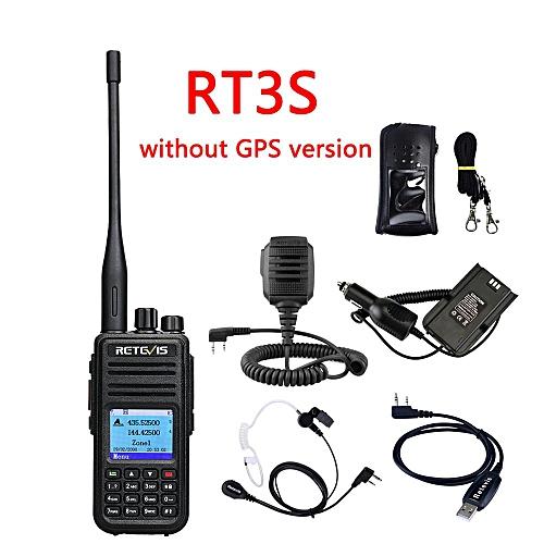 DMR Dual Band RT3S Digital Walkie Talkie (GPS) VHF UHF DMR Radio Amador Ham  Radio Hf Transceiver 2 Way Radio+Accessories GSJAW