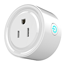 Wifi Smart Plug Wi-Fi Enabled Mini Socket App Remote Control Wireless Portable Automatic Timer Sockets with ON/OFF Switch for Light Electrical Appliance for Compatible with Alexa GooGle Home IFTTT ECHO