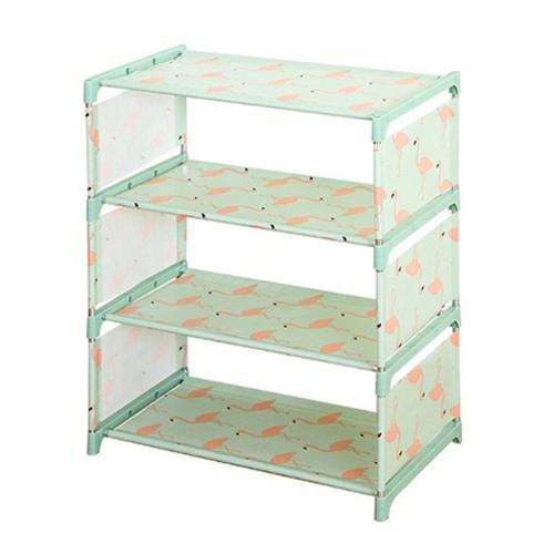 Shoe Rack Organizer Stand Shelf Convenient Three Four Layers Animal Pattern Space Saver Gadget Storage Cabinet