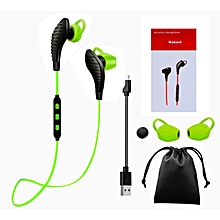 Wireless Bluetooth 4.0 Headset Sport Stereo Headphone Earphone for iPhone -Green