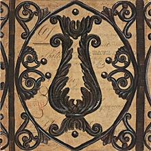 Canvas Print Still-Life Wall Picture 40X40cm Rolled -  Vintage Iron Scroll Gate 2 Painting
