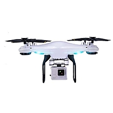 Drone Quadcopter Premium 2.0MP ABS Speed Adjustable Altitude Hold Aircraft LED Lighting One Key Take Off