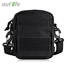 Outdoor Camping Tactical Molle Single Shoulder Bag - Black