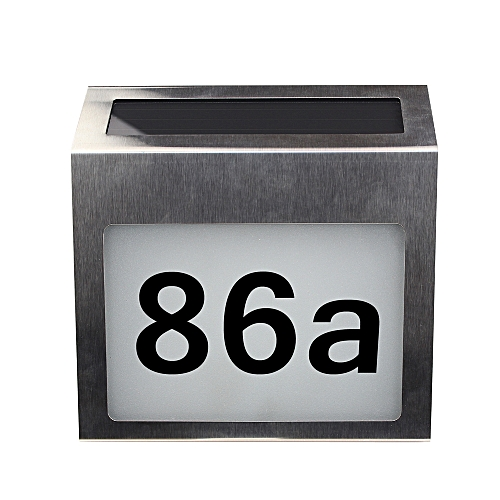 Solar Lighted Address Signs House Number For House Street Mailbox Outdoor  Metal LED Plaque With Light Sensor DIY Letter & Numbers