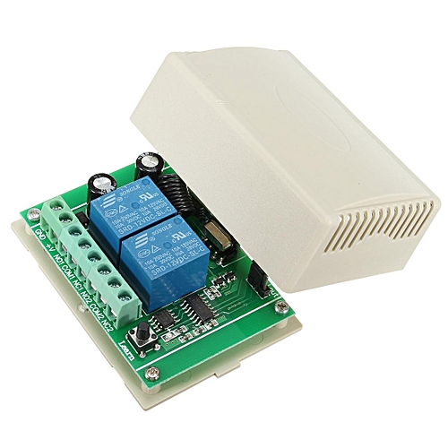 433MHz 12V 10A 2 Channel Receiver Wireless RF Relay Remote Control Switch  Module