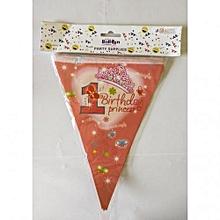 1st birthday princess banting-1 piece-Pink