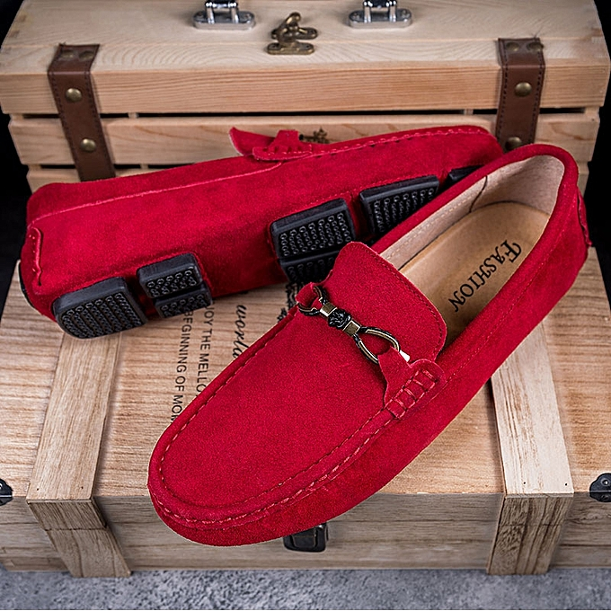 16c92272e15 ... EUR 38-44 Cow Suede Loafers Men Full Grain Leather Driving Moccasins  Slip on Men ...
