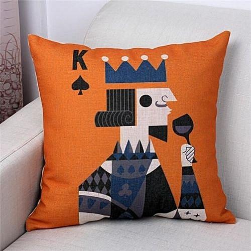 Buy UNIVERSAL New Cotton Linen Decorative Pillow Case Poker King Classy Decorative King Pillow Cases