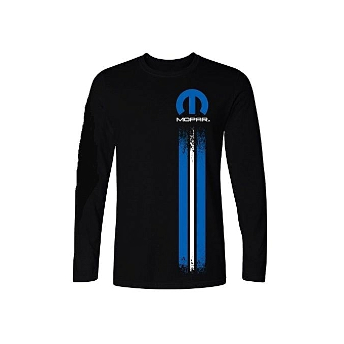 28d3014244c Fashion Man Mopar Left Stripe Logo Men Black Long Sleeve Tee Shirt Print  Long Sleeve T Shirt For Man Casual