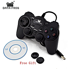 HonTai HOT Wired USB 2.0 Black Gamepad Joystick Joypad Gamepad Game Controller for PC Laptop Computer for Win7/8/10 XP/For Vista