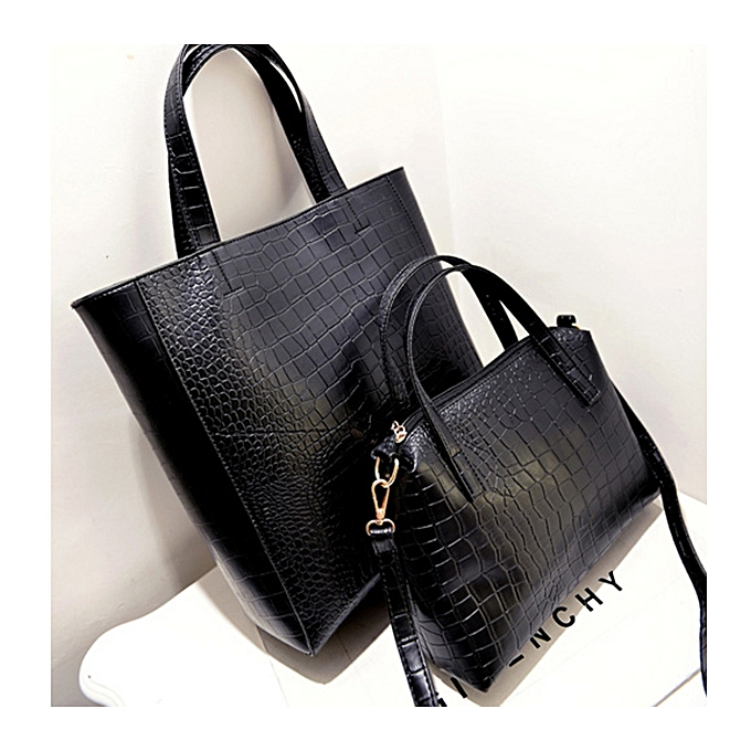 b172810d683a AEQUEEN 2 Bag One Set Satchel Women Crocodile Leather Handbag Fashion Lady  Messenger Bags/Set Famous Brand Shoulder Crossbody Bag European Style Tote  ...
