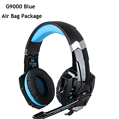 G2000 G4000 G9000 Gaming Headphones Deep Bass Wired Headsets with Mic Led  Light Earphones for PS4 New Xbox Laptop PC Gamer(G9000 BLUE)