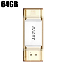 EAGET I60  64GBUSB 3.0 OTG Flash Drive with Connector CHAMPAGNE 64GB