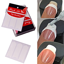 10Pcs New French Manicure Nail Art Tips Tape Sticker Guide Stencil Nail Sticker