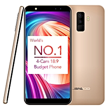 LEAGOO M9, 2GB+16GB, Dual Back Cameras + Dual Front Cameras, Fingerprint Identification, 5.5 inch LEAGOO OS 3.0 (Android 7.0) MTK6580A Quad Core up to 1.3GHz, Network: 3G, Dual SIM(Gold)