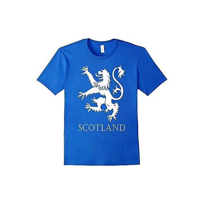 f26241489 Scottish Lion Rampant T-shirt Scotland Tee Scots Men Round Neck T-Shirts