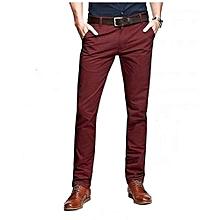 Maroon Khaki Pants for Men