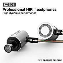 KZ-ED4 Subwoofer HIFI Earphone Headset Monitoring Ear Headphones-Silver