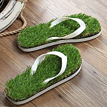 Kema Summer Pattern Flat Bottom Home Furnishing Non-slip Simulation Lawn Slippers Flip Flops, Size: 40/41#, Length: 26.5cm