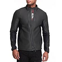Black Reliance Zip - Up Jacket