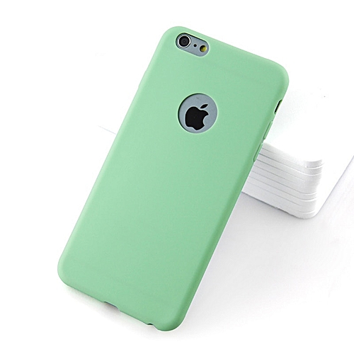 innovative design 85db7 5af7a for iphone 6 6S case Soft Silicone Case iPhone Cute Candy Anti-knock rubber  Cover-Mint green