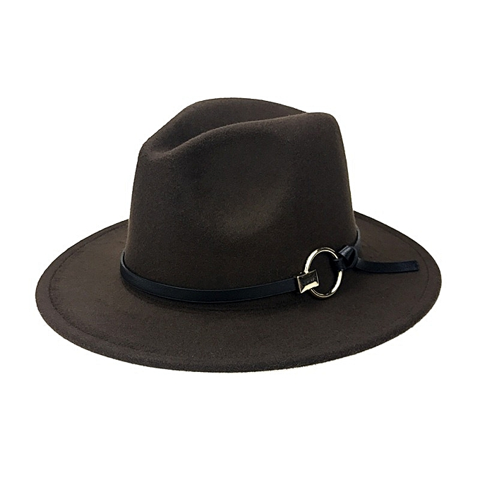 08b0eaa08 Men Women Vintage Felt Panama Style Beach Jazz Hat England Wide Brimmed Top  Hat
