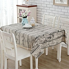 100x140 Vintage Wood Bark Cotton&Linen Tablecloth Dining Table Cloth Cover Decor