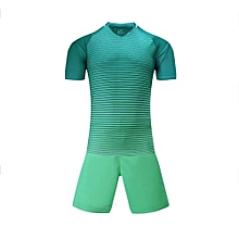 Customized Blank 2018 New Fashion Kids And Men's Football Soccer Team Sports Jersey Set-Green