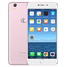 Homecare V8 5.5-inch (4GB, 128GB ROM) Android 6.0, 16MP + 8MP, 3400mAh, Dual Sim 4G LTE Smartphone - Rose Gold