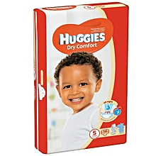 Dry Comfort Disposable Diapers Jumbo Pack Size:5 (0 -36 Months) - 56 Diapers